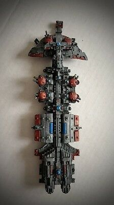 Battlefleet Gothic Tau painted Hero Class starship