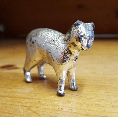 Antique vintage silver colour cat ornament trinket figure metalware collectable