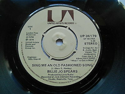 "Billie Jo Spears Sing Me An Old Fashioned Song / Let's Try... 7"" Uk Ex-"