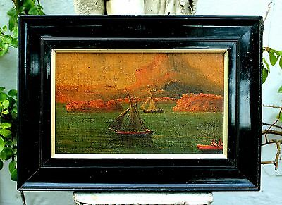 Fine Early C19th Neapolitan School Oil on Canvas - Bay of Naples