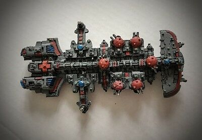 Battlefleet Gothic Tau painted Merchant Class starship
