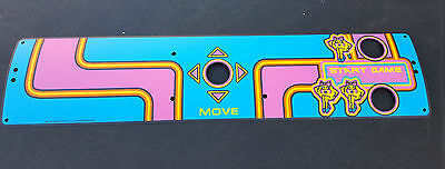Brand New Midway Ms Pac Man Control Panel Overlay CPO MINT