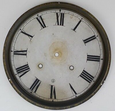 Antique Ingraham Ornate Eight Day Time Strike Wall Clock Dial Old Vintage Parts