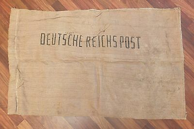 Deutsche Reichspost WW2 Era Antique German Postal Bag Mail Sack 2WK Post Beutel