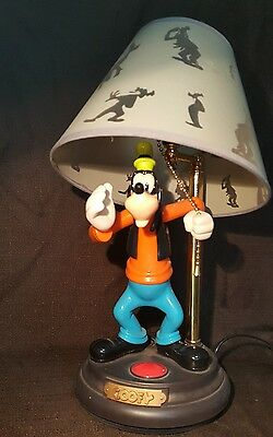 Disney Goofy Lamp with Original Shade Vintage Rare & Working Excellent