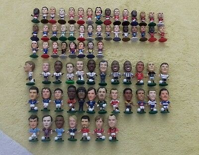 Corinthian football figures and microstars joblot