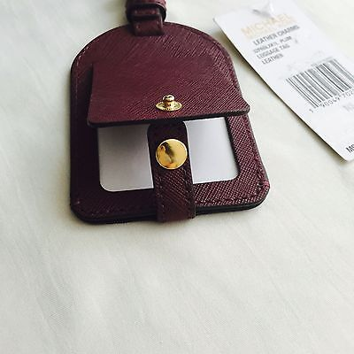 Brand New MICHAEL Michael Kors Leather Luggage Tag Authentic NWT