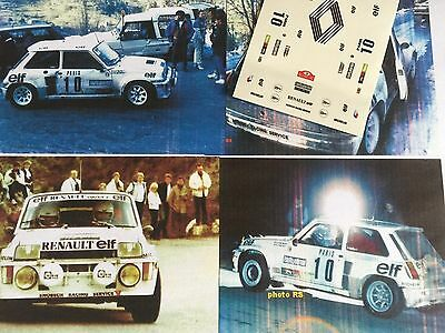 Decals Calca 1 43 Renault 5 Turbo N° 10 Rally Wrc Monte Carlo 1985 Montecarlo