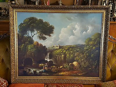Beautiful old oil painting on canvas