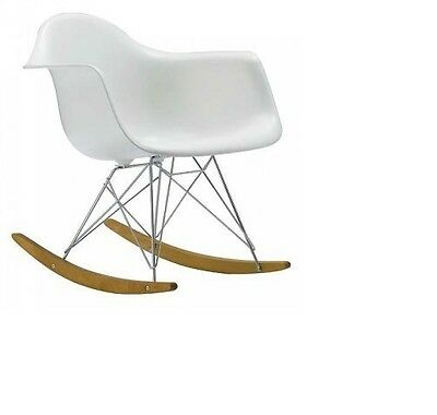 Eames Style Molded Modern Plastic Armchair-Rocking Mid Century Style Lounge