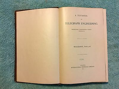 ANTIQUE 1901 BOOK TELEGRAPH ENGINEERING telegraphy wireless Marconi System ICS
