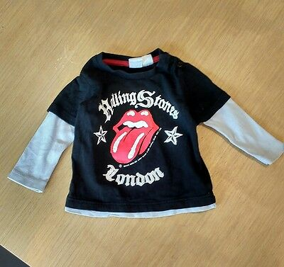 Rolling Stones long-sleeved t shirt aged 6-9 Months