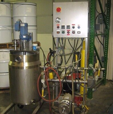 Chocolate System w/ S/S Jacketed Hinged Lid Tank Agitator, Pump, and Controls