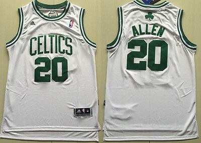New Men's Boston Celtics #20 Ray Allen swingman Basketball jersey White S-XXL