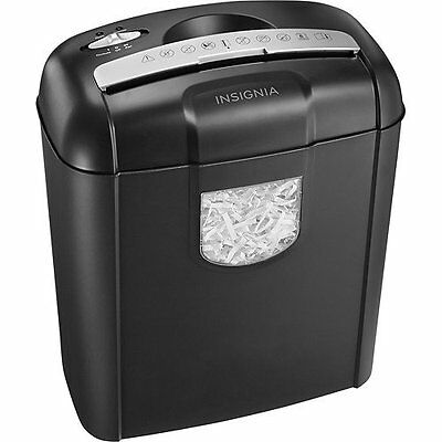 insignia 6 sheet cross-cut shredder