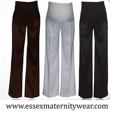 BNWT Maternity Summer Silky Brown Trousers Size 12 - 18