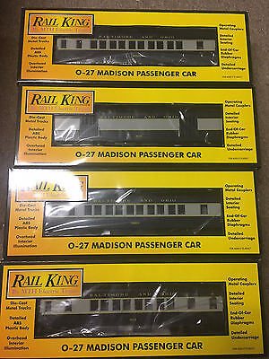 Rail King 0/027 Gauge 30-6265 B/c/d/e Baltimore & Ohio Madison Passenger Cars