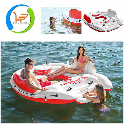 Island Party River Lounge Inflatable Pool Raft Floating Lake Water Float Intex