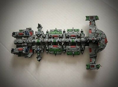 Battlefleet Gothic Tau painted  explorer ( Gal'leath) Class starship