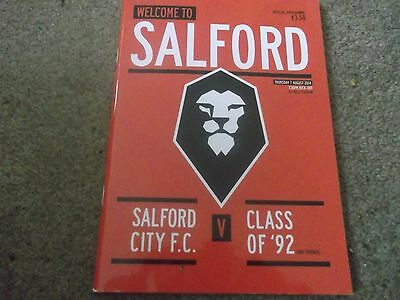 Salford City V Class Of 92 Start Of The New Era Manchester United 7Th Aug 2014