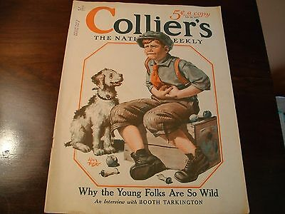 "July 28Th, 1923 Collier's ""why The Young Folksare So Wild"" Qith Texzco Ad On Bac"