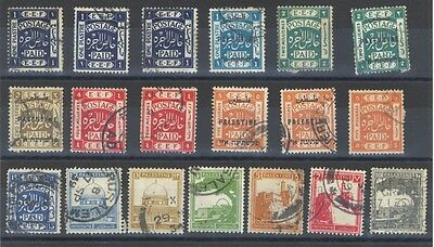 Palestine - Early Selection - With Over Prints - 19 Stamps Mint/ Used