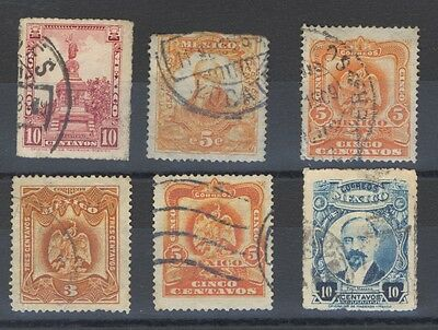 Mexico - Early Stamps - 6 Stamps Used
