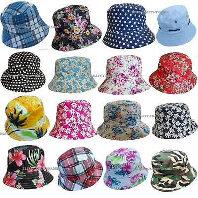 26f179e7 Mens Ladies Bush Bucket Boonie Hat Festival Fishing Summer Sun Beach Hat Cap