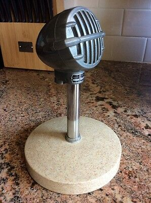 Vintage 1950's Astatic JT-30 Harp Microphone Old Deco Midcentury w/Stand