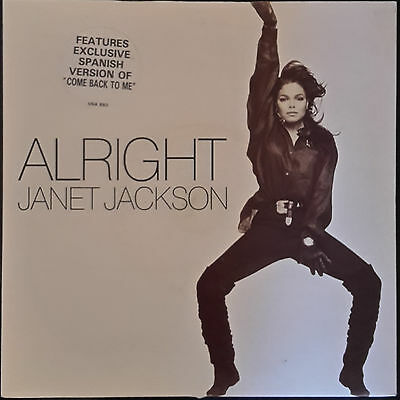 """Janet Jackson: Alright (House Mix) / Vuelve a Mi (Come Back to Me in Spanish) 7"""""""