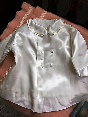 White Satin Baby Coat Fully Lined Heirloom Details