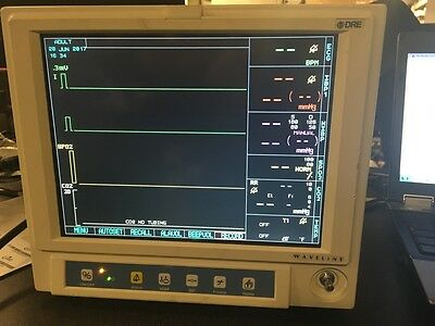 DRE Waveline Veterinary Vital Signs Monitor - Tested And Working!