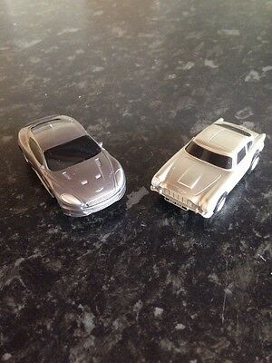 Micro Scalextric James Bond 007 Aston Martin Cars In Very Good Condition