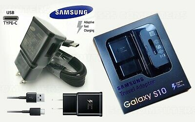 Lot  Samsung Galaxy S8 & S8 Plus Travel Adapter Adaptive Fast Charger & Cable