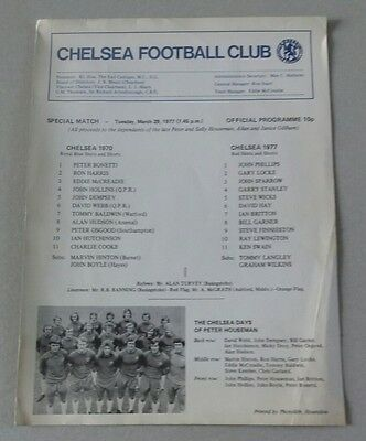 1977 Chelsea Special Match