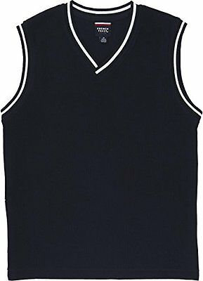 French Toast School Uniform Boys Sweater Vest with White Stripe, Navy, Large...