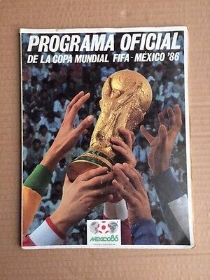 World Cup 1986 Official Mexican Tournament Brochure