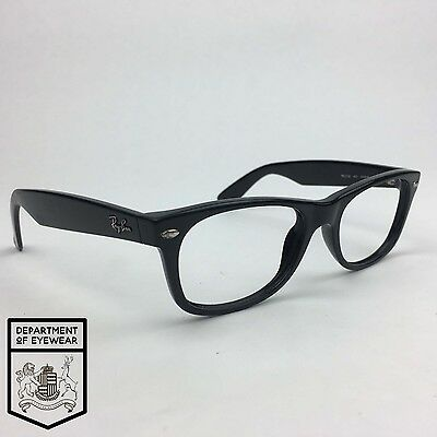 RAY BAN eyeglass BLACK WAYFARER STYLE frame Authentic. MOD: RB 2132
