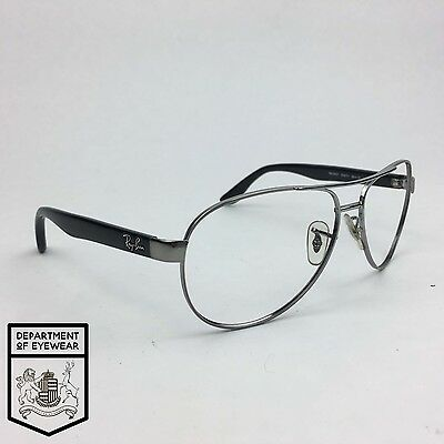 RAY BAN eyeglass SILVER+BLACK AVIATOR frame Authentic. MOD: RB 3457