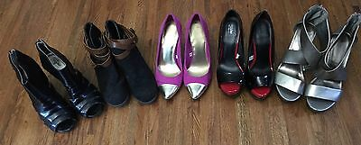 Lot of 5 Mossimo  Short Boots, Pumps, Peep Toes, Sandals - Women's Size 5 1/2""
