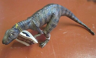 Schleich Museum Line Allosaurus dinosaur model with tag and scale human