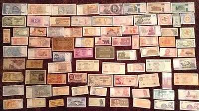 Assortment Of 80 X World Banknotes. All Different. Mix Of New And Old Notes.
