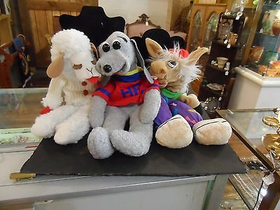 Lamp Chop, Charlie Horse, & Hush Puppy Hand Puppets Sheri Lewis 1993