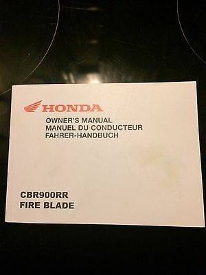 honda cbr900rr fireblade Owners Manual