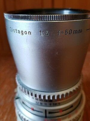 HASSELBLAD ~ CARL ZEISS LENS ~ DISTAGON 1:4 f=50mm CHROME Nr4609489 W/ Filter