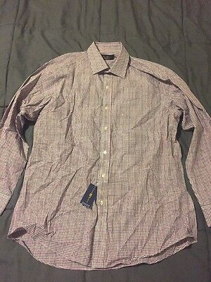 Club Room Regular Fit Button Down Casual Dress Shirt NWT 16 1/2 32/33 16.5 Plaid