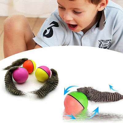 Dog Cat Electric Beaver Weasel Jumping Moving Rolling Ball Pet Puppy Play Toy