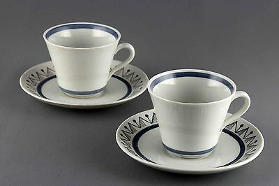 Rare Vintage Rorstrand Skandia Coffee Cup With Saucer, 4 Sets Available