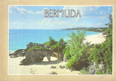 Old postcard : Natural Arches, Bermuda, posted 31 years ago