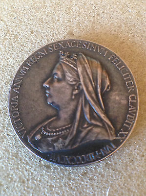 1897 Queen Victoria Diamond jubilee royal mint official silver medal
